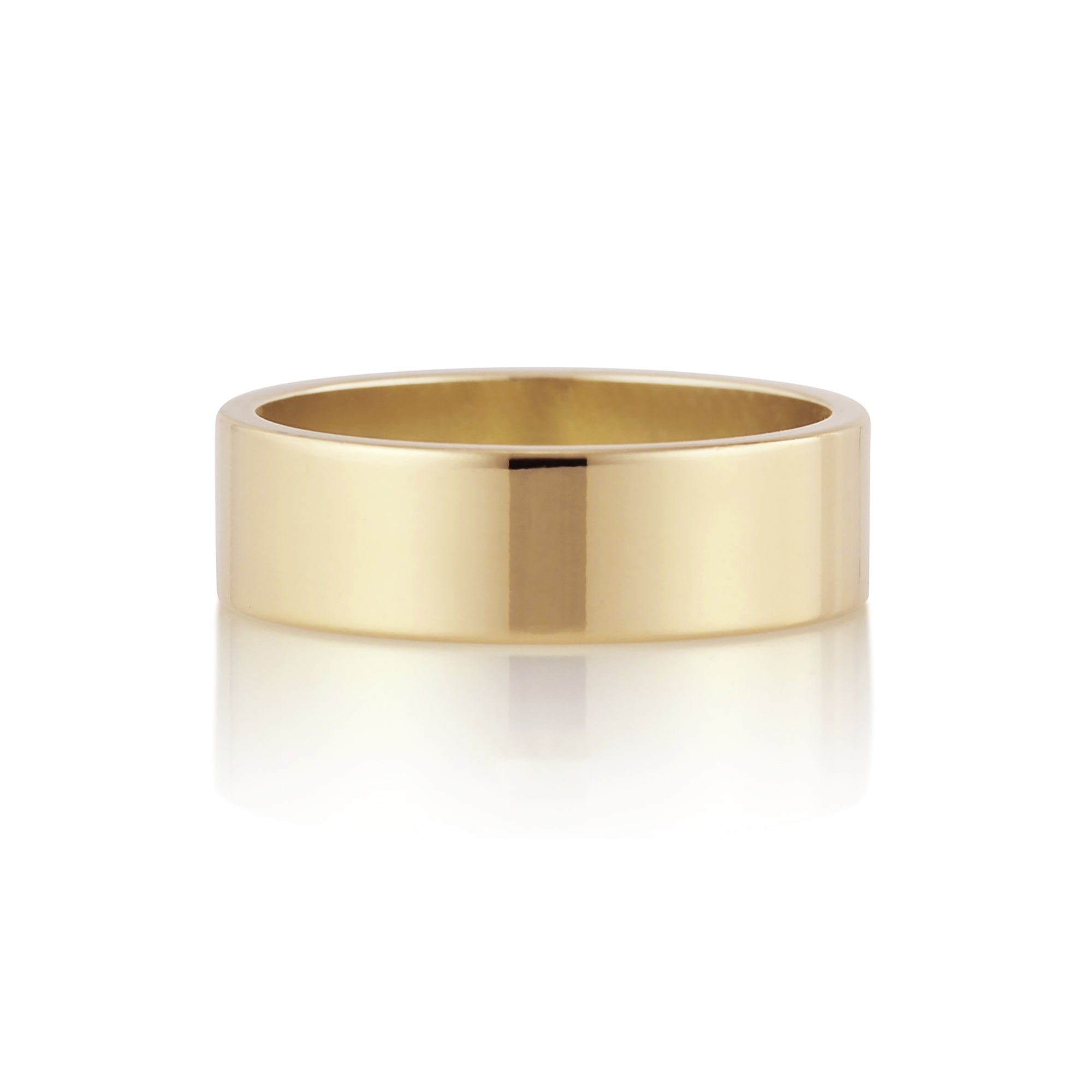 Flat Band | 6mm | Yellow Gold