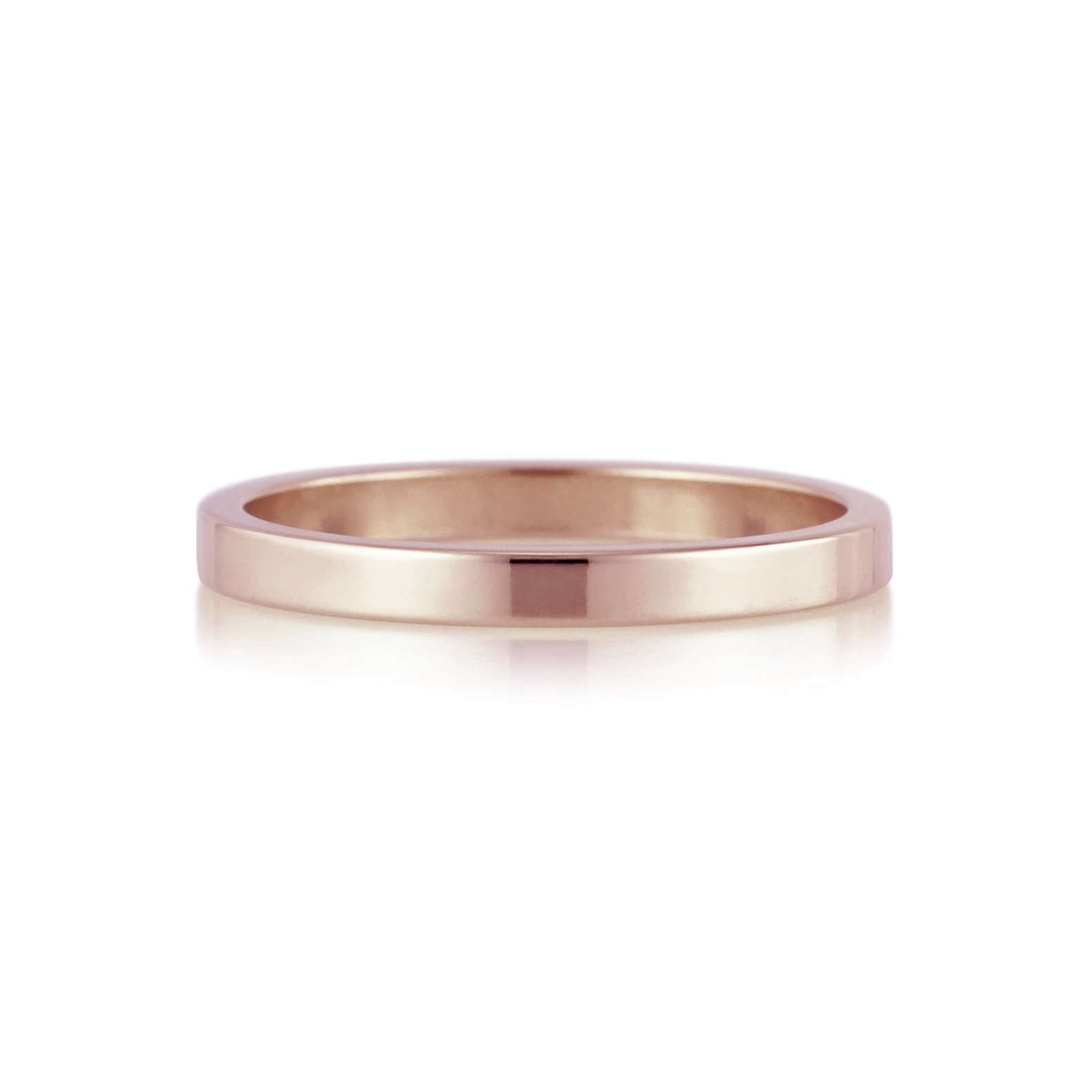 Flat Band | 2mm | Rose Gold