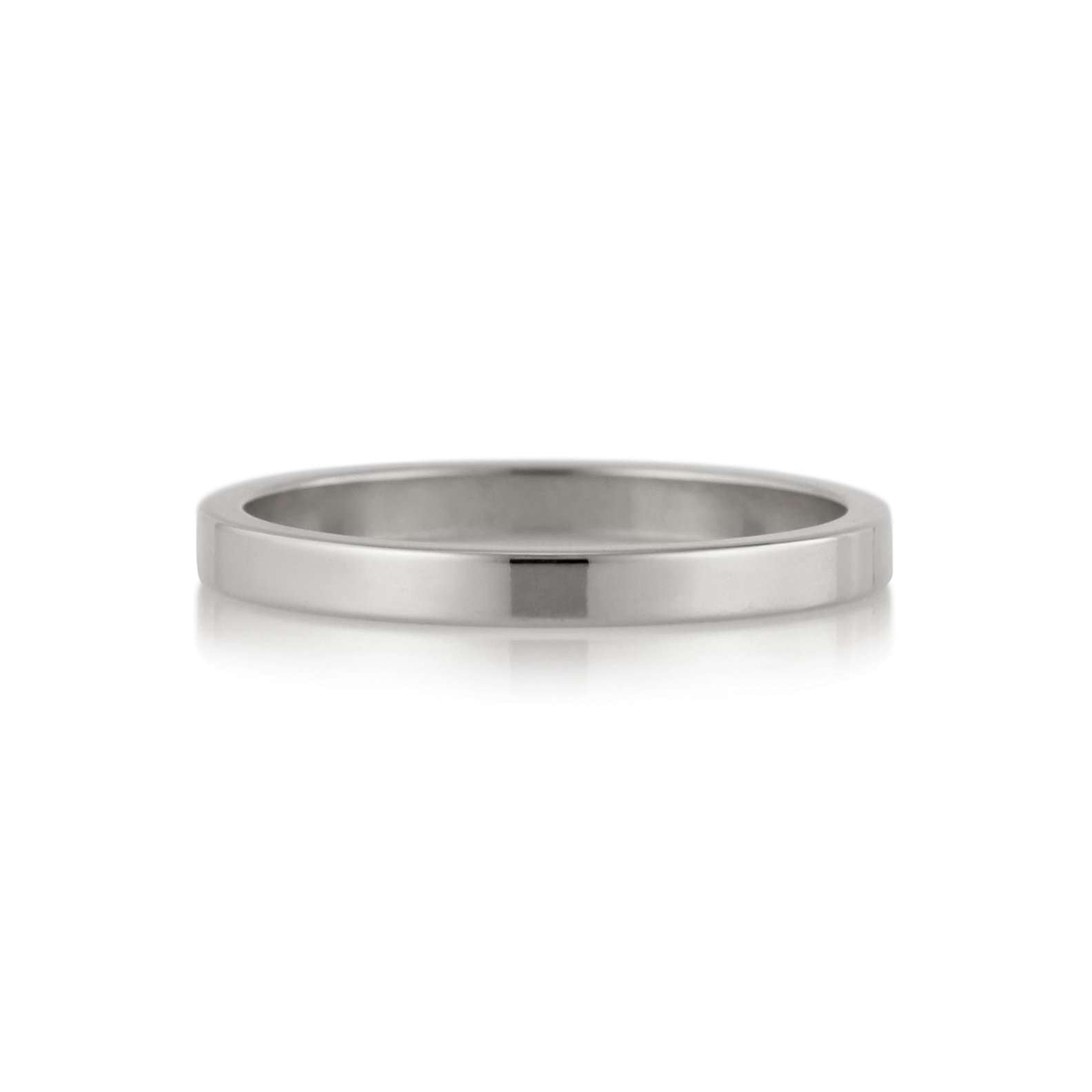 Flat Band | 2mm | Palladium White Gold