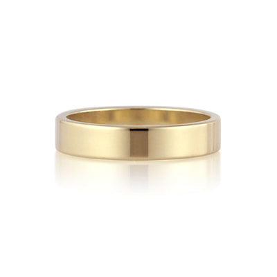 Flat Band | 4mm | Yellow Gold