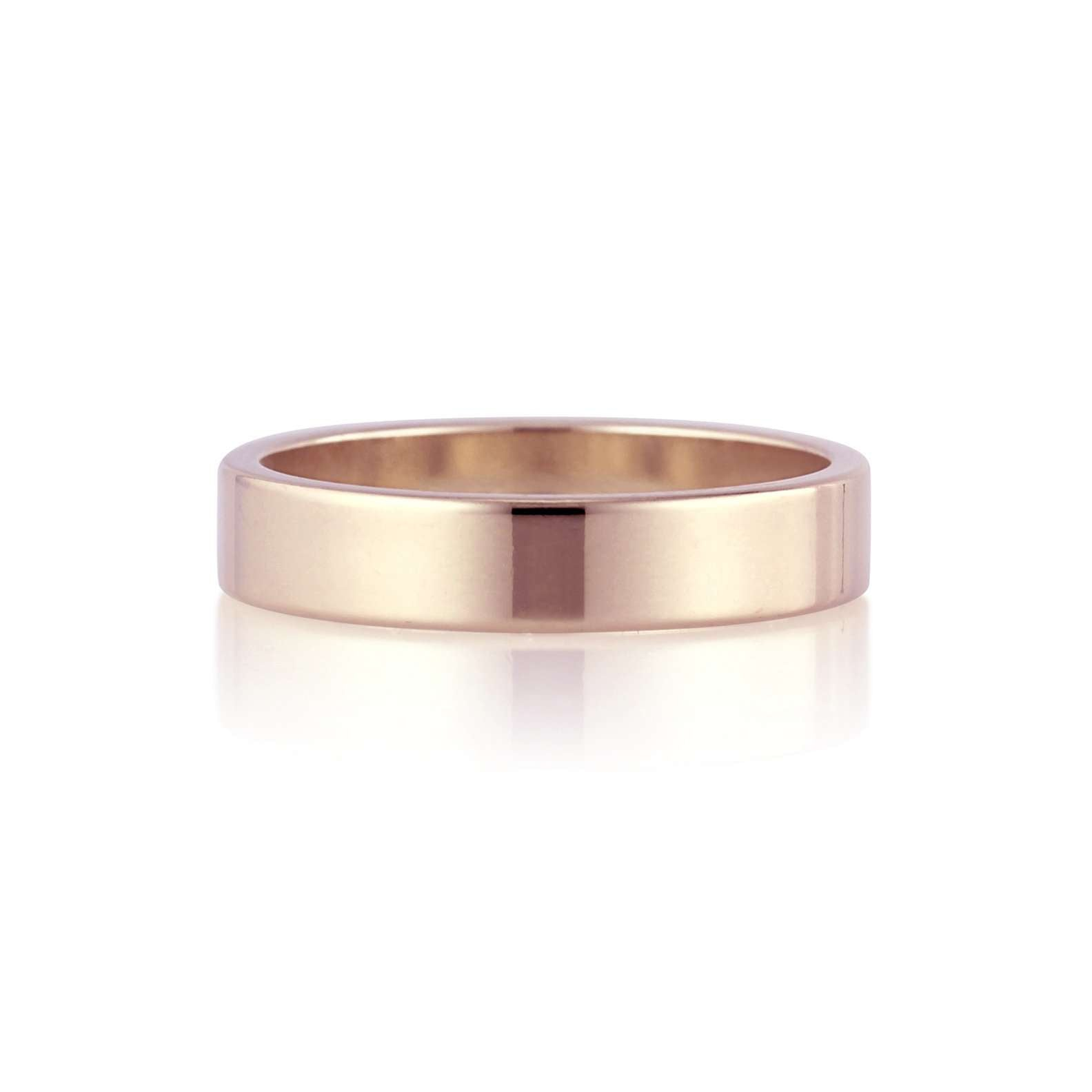 Flat Band | 4mm | Rose Gold