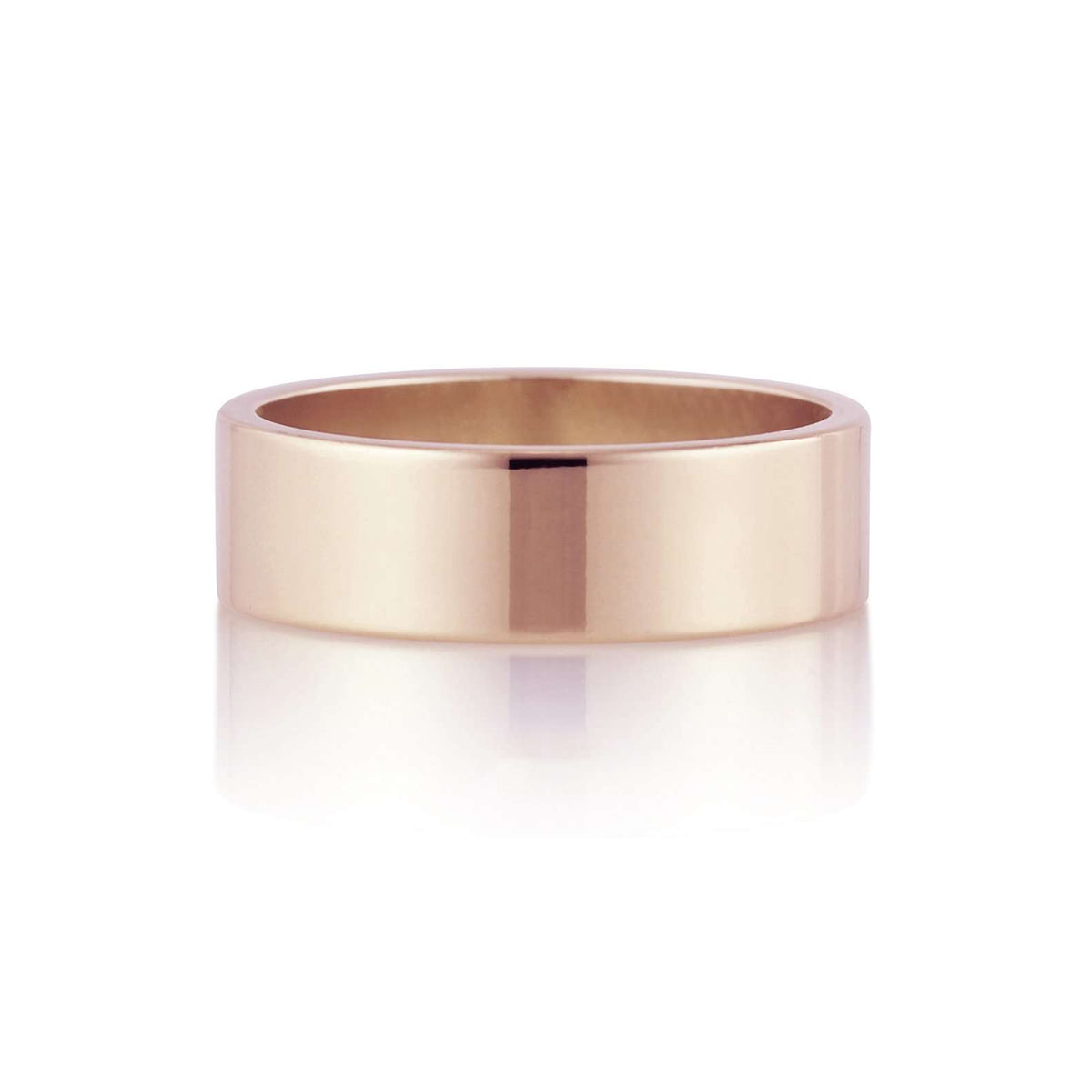Flat Band | 6mm | Rose Gold