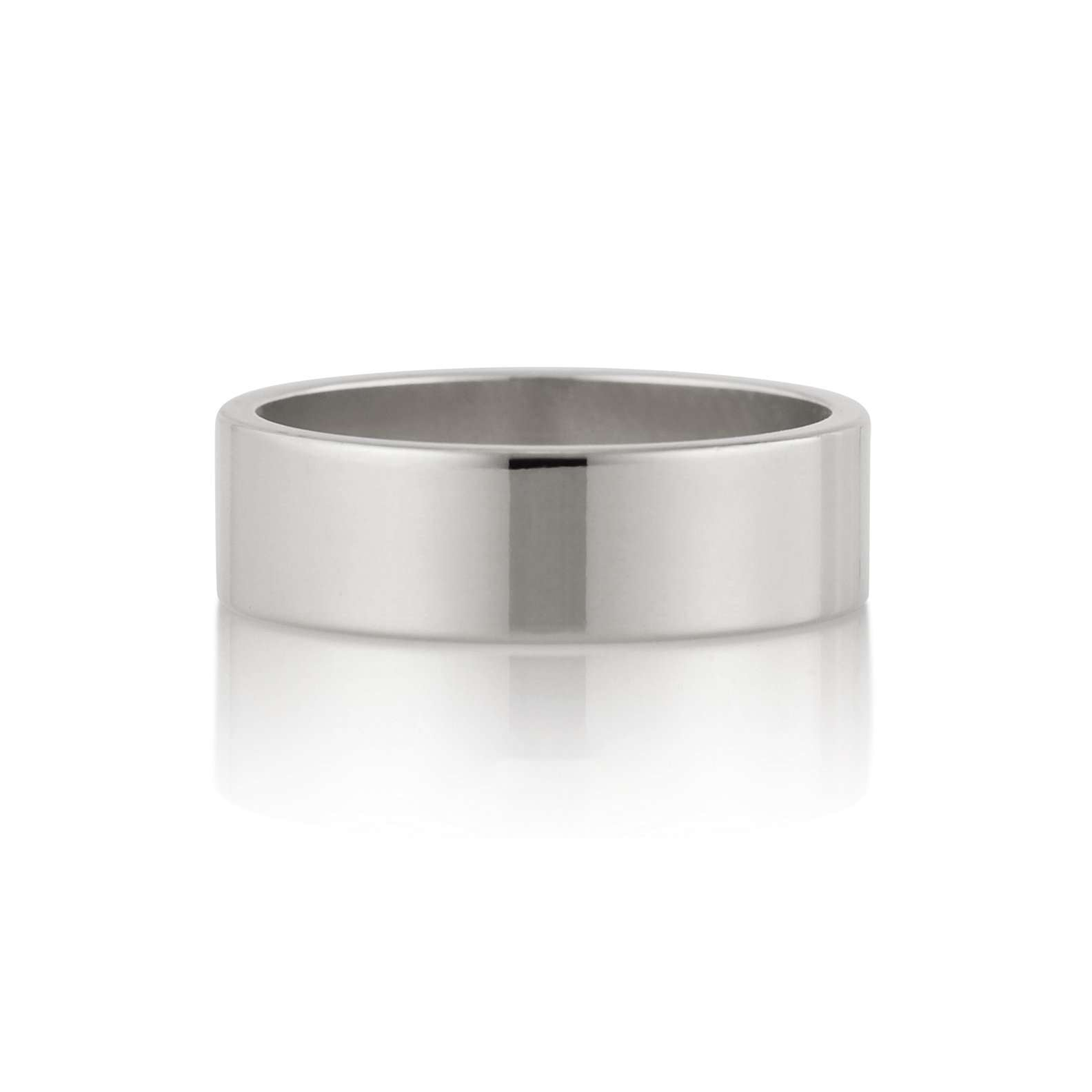 Flat Band | 6mm | Palladium White Gold