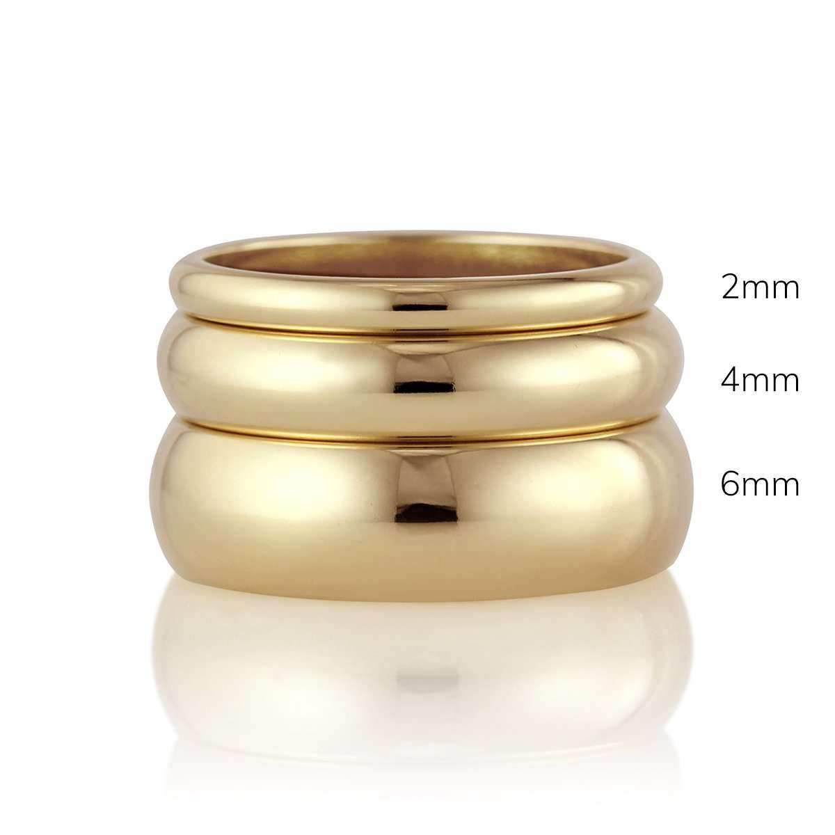 Comfort Fit or Half Round Band - 2mm - Customize Your Own-Alysha Whitfield