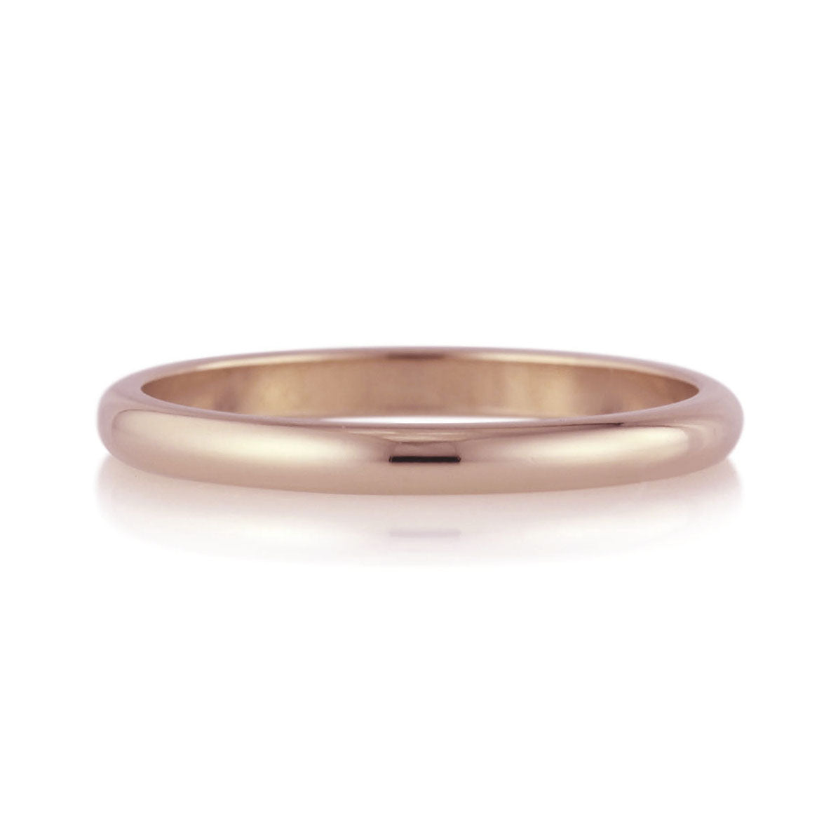 Comfort Fit or Half Round Band - 2mm - Rose Gold
