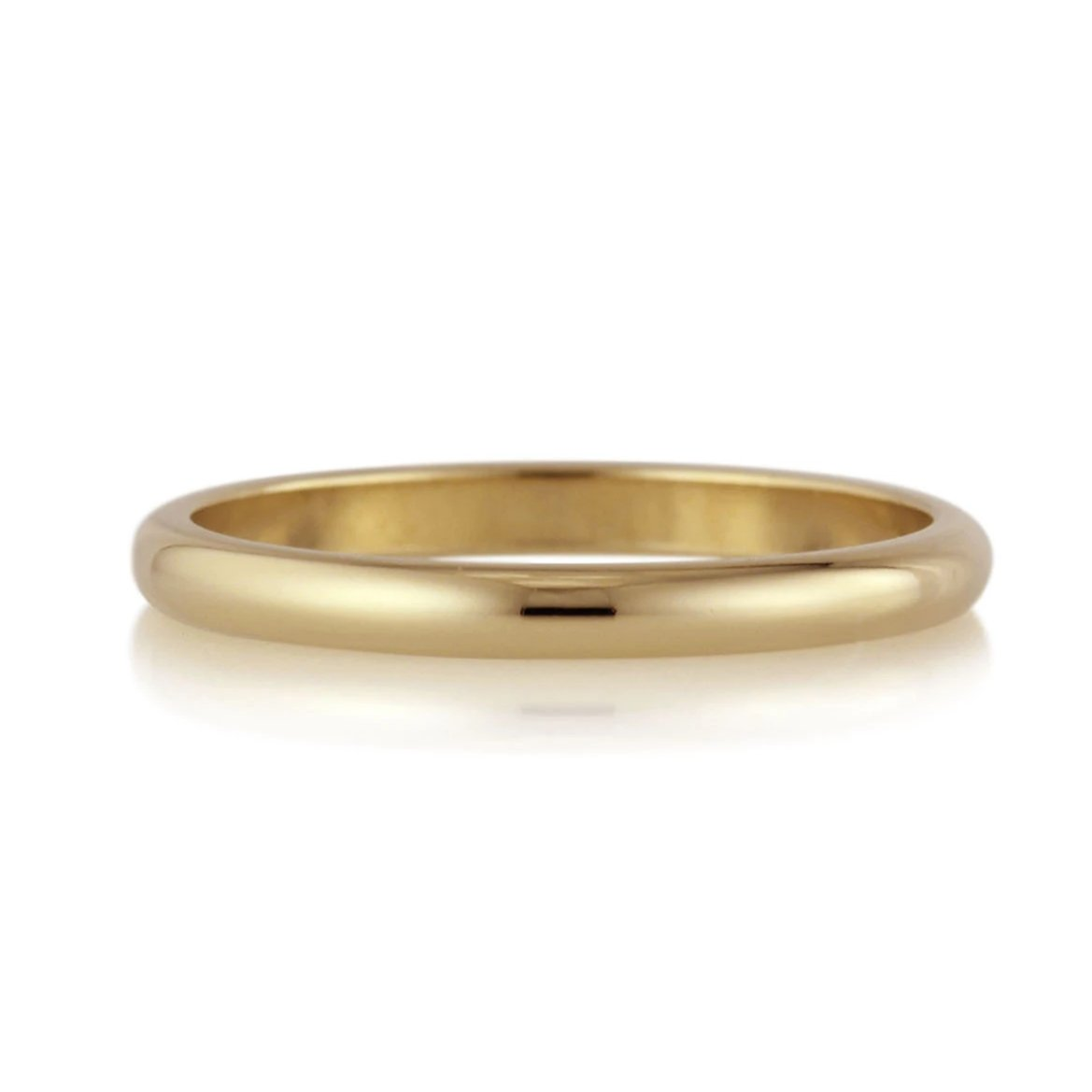 Comfort Fit or Half Round Band - 2mm - Yellow Gold