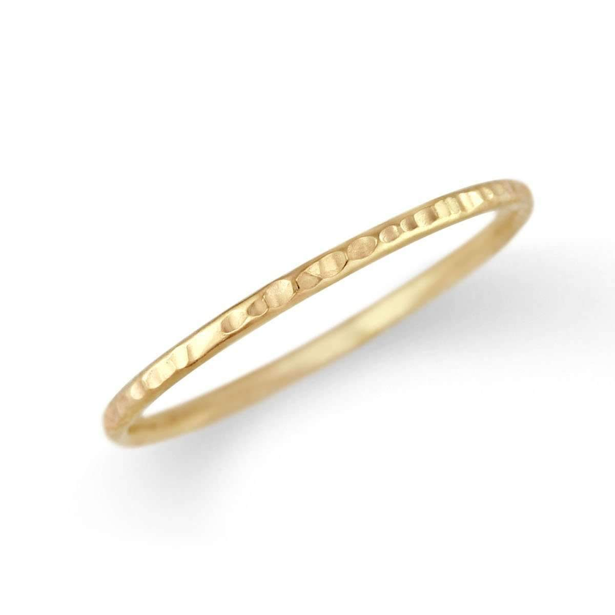 Petite Hammer Texture Ring Band-Alysha Whitfield