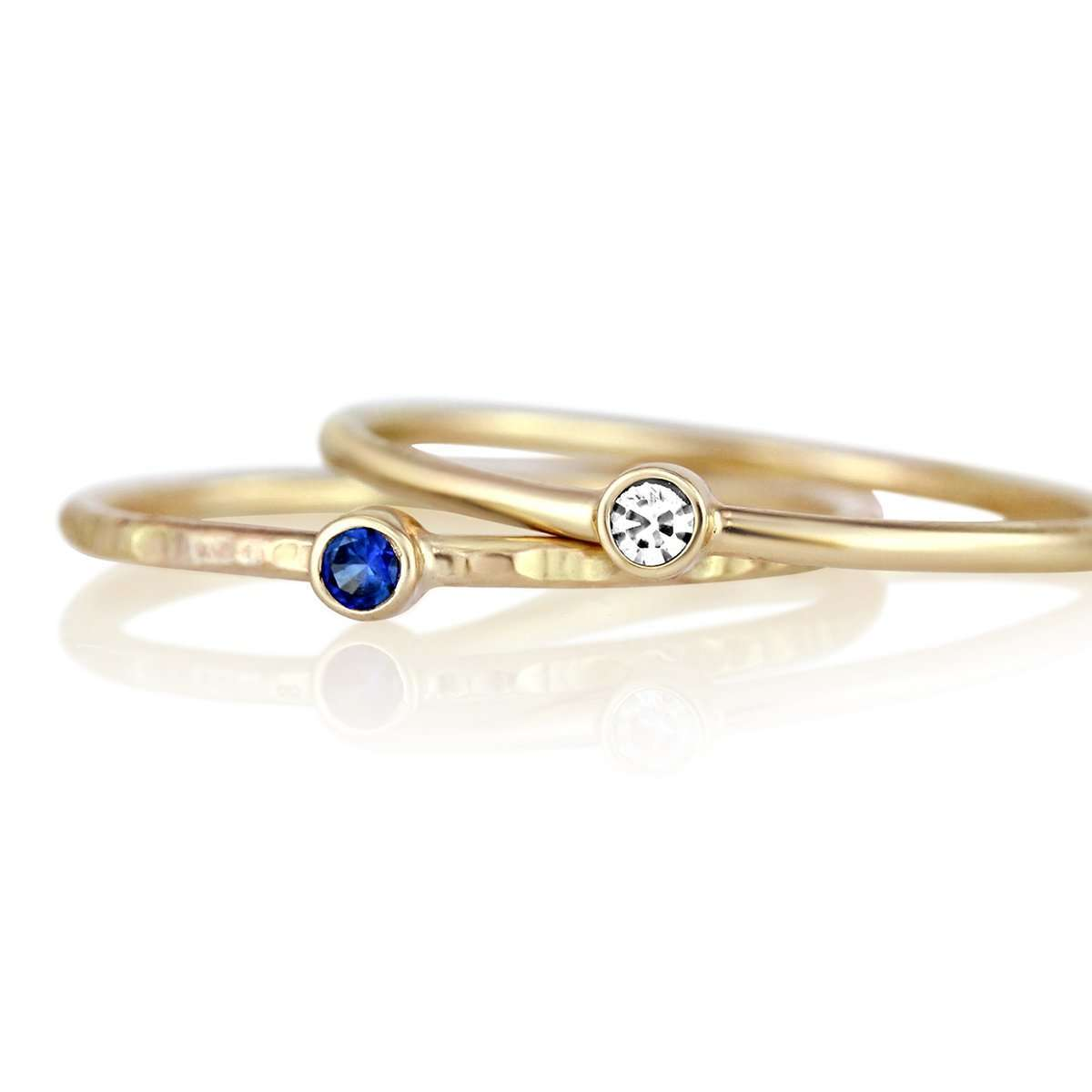 Petite Round Gemstone Ring-Alysha Whitfield
