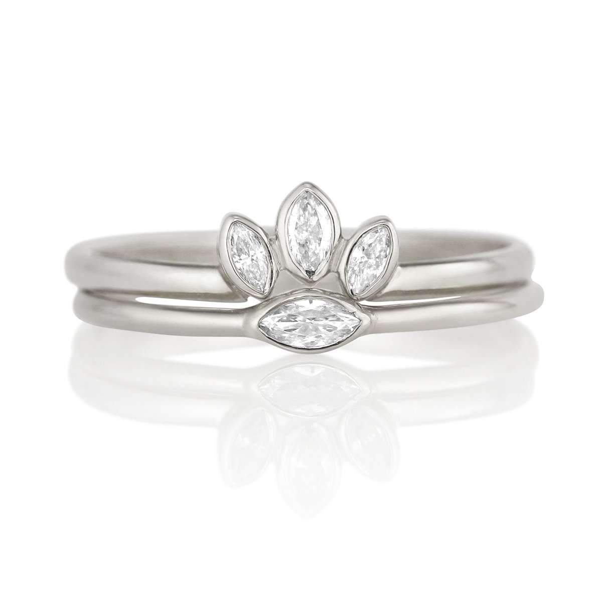 Petite Marquise Diamond Ring & Ring Enhancer Set-Alysha Whitfield