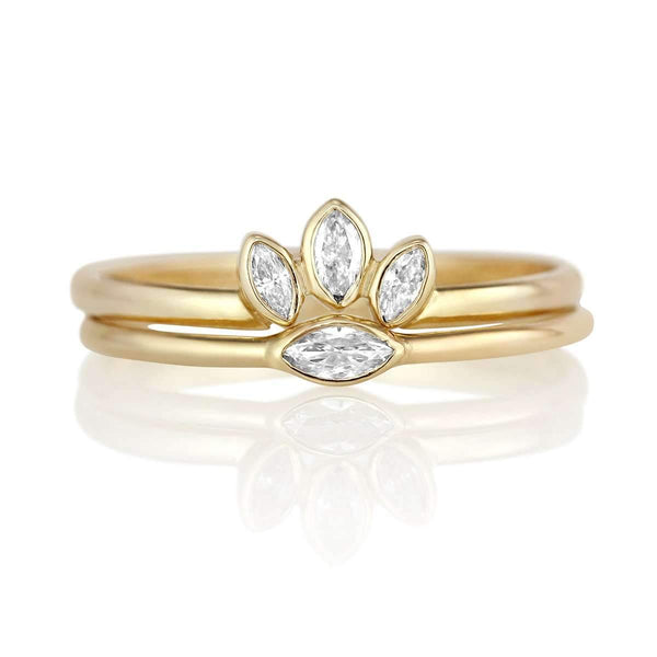 Petite Marquise Diamond Ring & Ring Enhancer Set