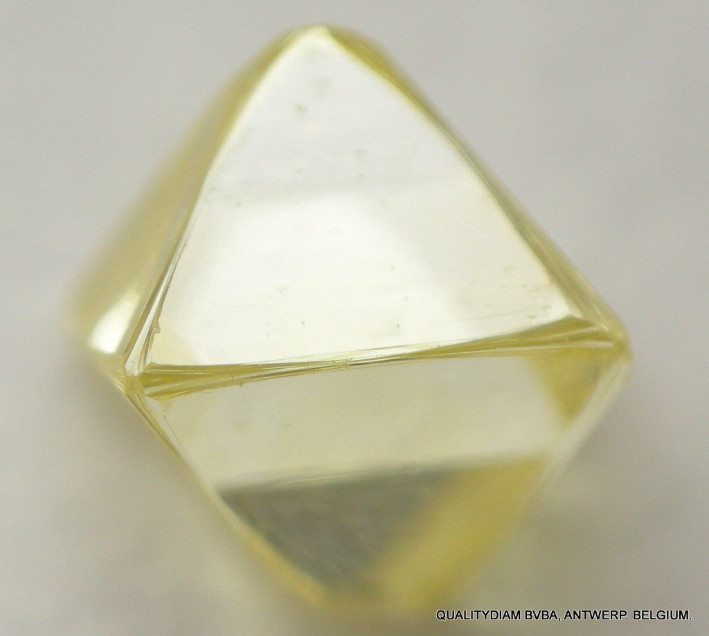 Intense Fancy Yellow 0.64 CARAT SI1 Rare Uncut Diamond in Octa Shape