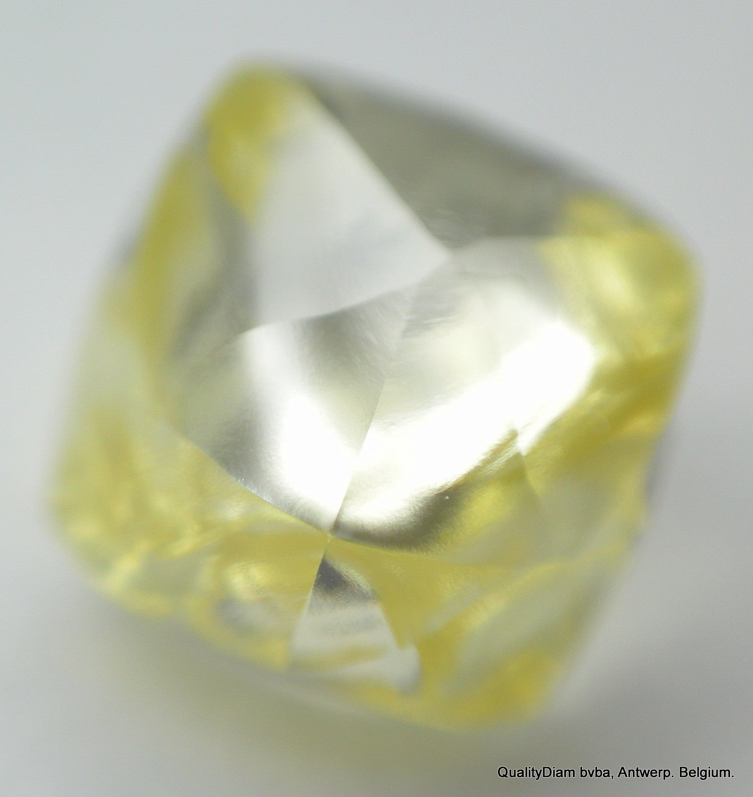 1.48 CARAT Intense Fancy Yellow Natural Rare Uncut Diamond in Tetra Shape