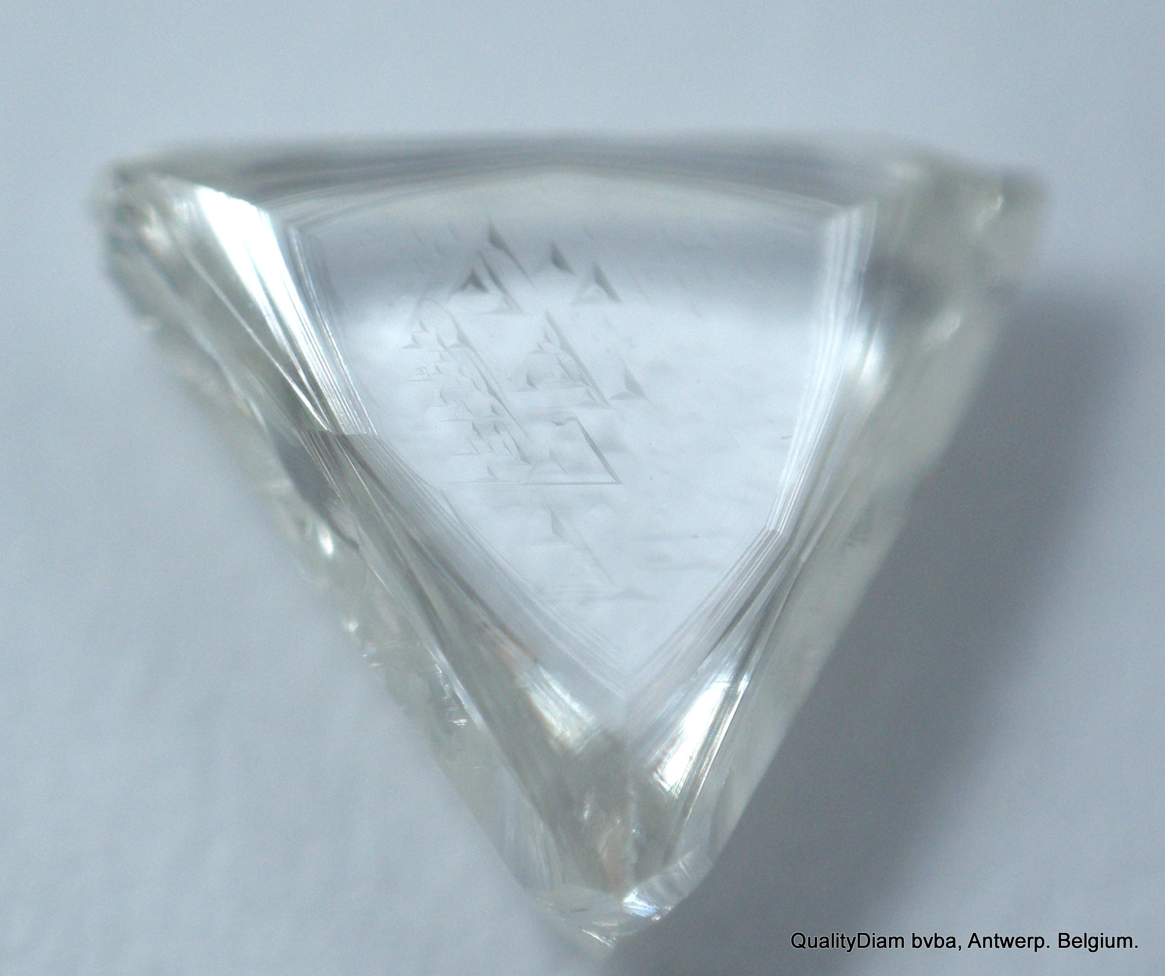 G Vs1 Triangle Shape Natural raw Diamond Recenlty Mined Out Uncut Gem
