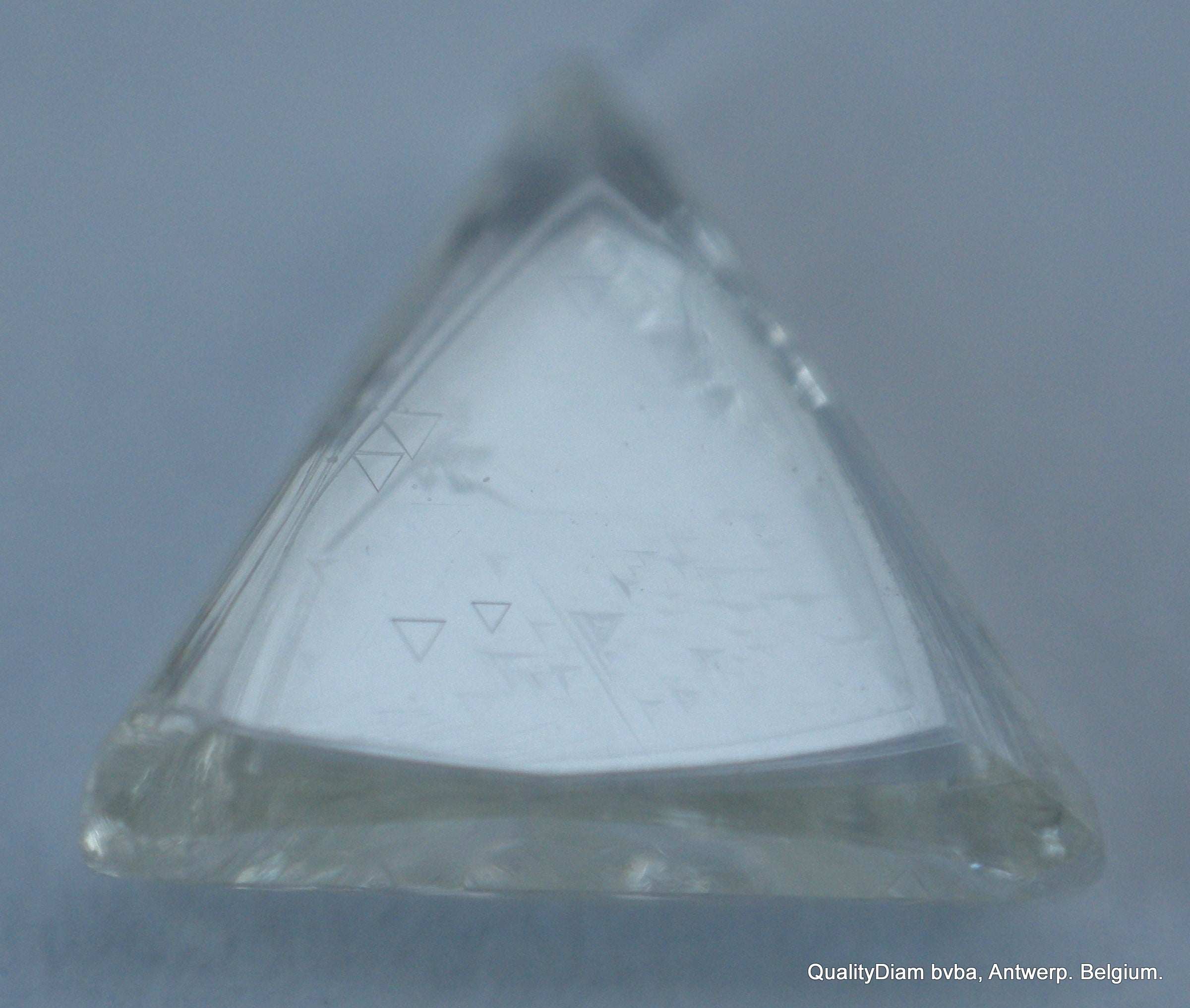 H Si2 0.48 Carat Rough Diamond Triangle Shape Uncut Natural Gem White Diamond