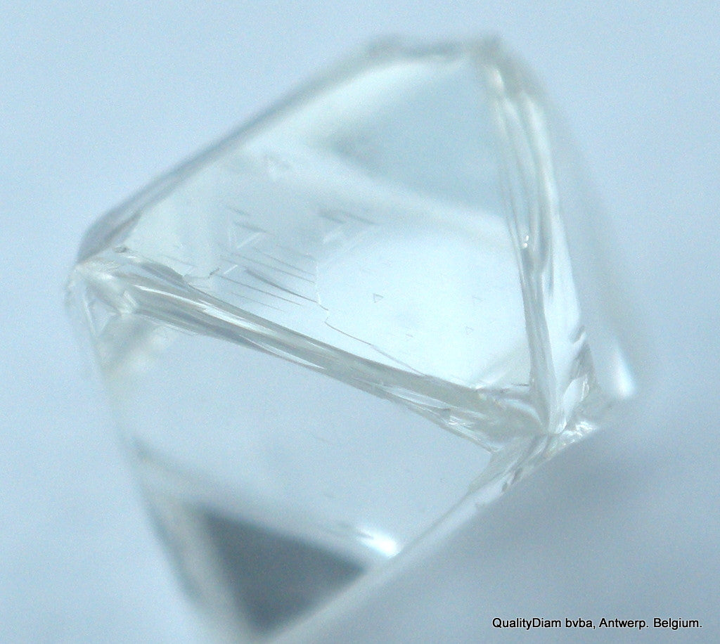 D VVS1 0.24 carat Octahedron Diamond with unusual 6 corners
