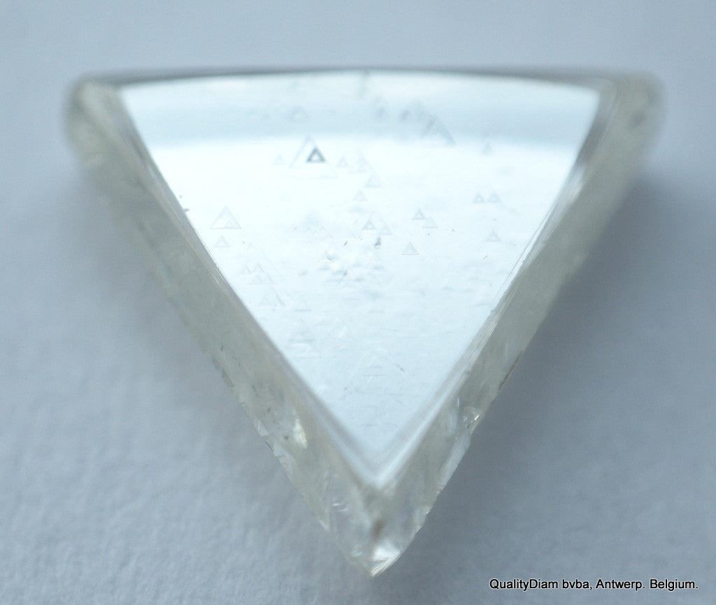 TRIANGLE SHAPE NATURAL DIAMOND UNCUT GEM 0.84 CARAT H SI1 DIAMOND