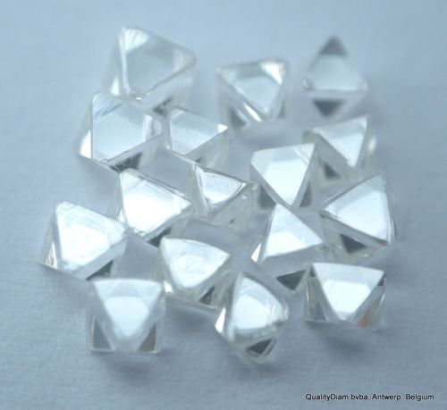 092 CARAT EXCEPTIONAL WHITE HIGH QUALITY OCTAHEDRON SHAPE NATURAL DIAMONDS