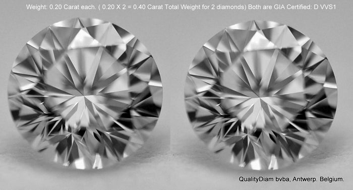 D VVS1 GIA CERTIFIED DIAMONDS