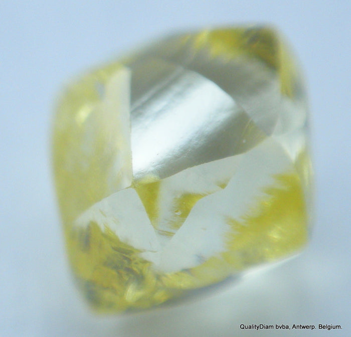 For Rough Diamond Jewelry: 0.28 Carat Intense Fancy Yellow Beautiful Gem Diamond