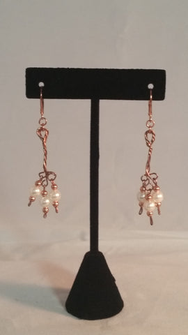 Pearl & Copper Earrings - Creations by Tammy
