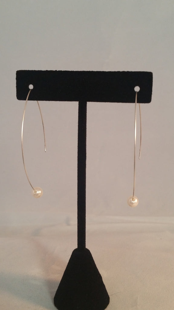 Pearl Arch Earrings - Creations by Tammy - 1