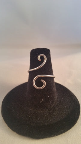 Silver Swirl Ring - Creations by Tammy - 1
