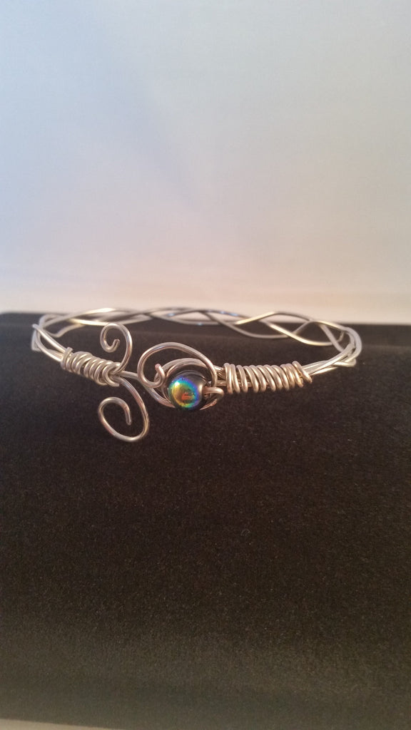 Braided Scrolled Locking Bracelet - Creations by Tammy - 1