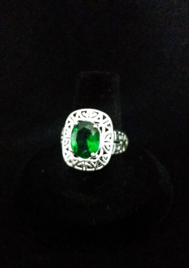 Emerald Crystal Ring - Creations by Tammy