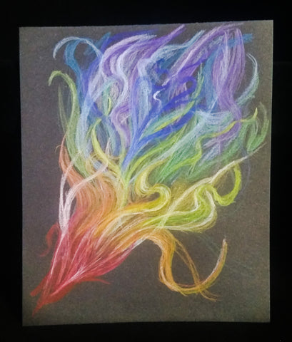 Pencil on Black Abstract - Creations by Tammy