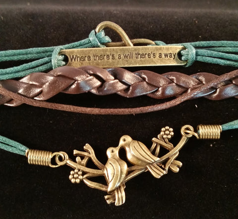 There's A Will There's A Way Bracelet - Creations by Tammy - 1