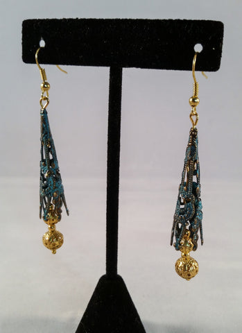 Antiqued Copper & Gold Filigree Earrings - Creations by Tammy