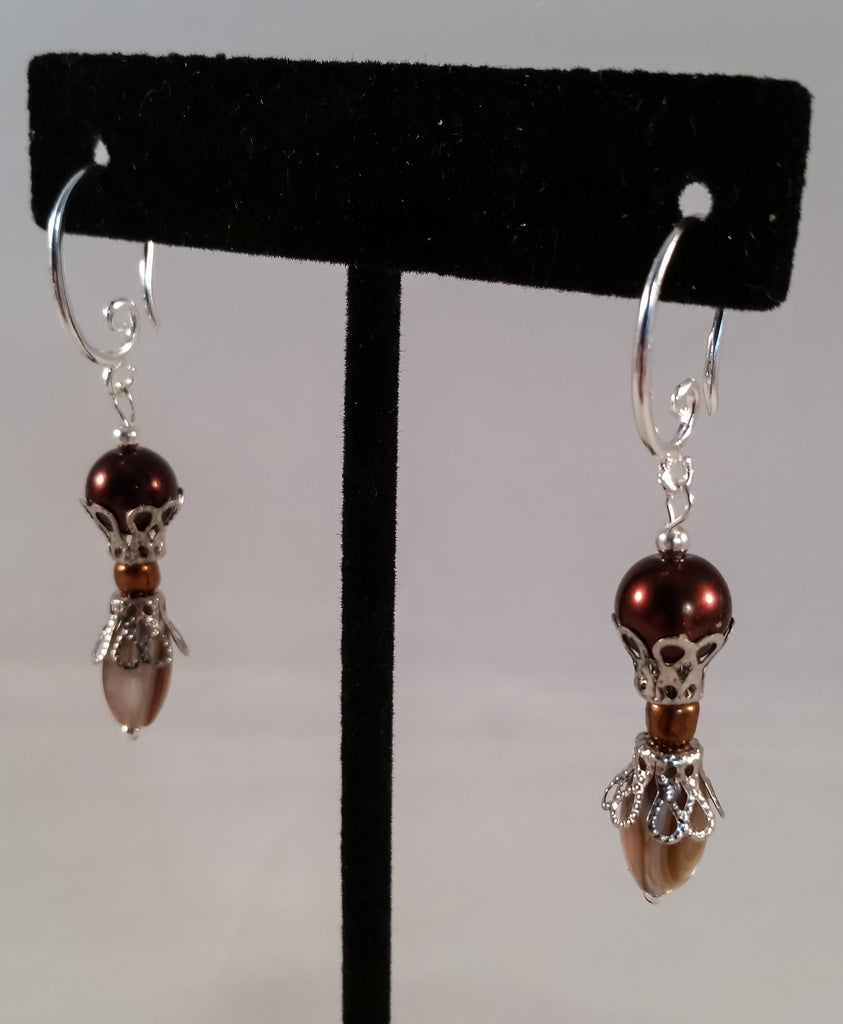 Sterling & Abalone Earrings - Creations by Tammy - 1