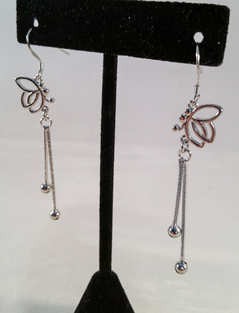Sterling Butterfly Dangle Earrings - Creations by Tammy