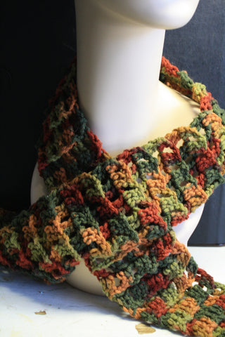 Fall Colored Skinny Scarf - Creations by Tammy - 1