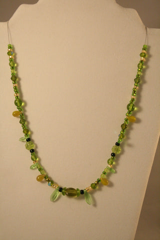 Green Goddess Necklace - Creations by Tammy - 1