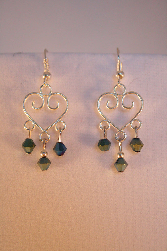 Scrolled Heart Earrings - Creations by Tammy