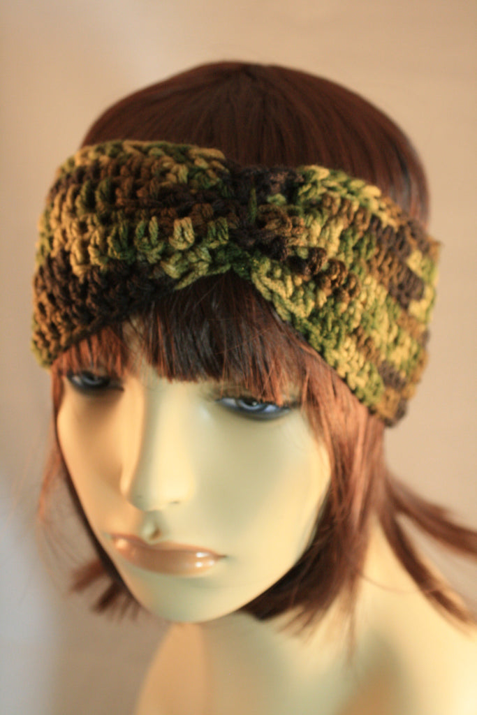 Camo Cinched Ear Warmer/Headband - Creations by Tammy