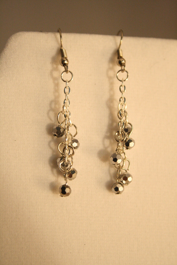 Dangle Crystal Bead Earrings - Creations by Tammy