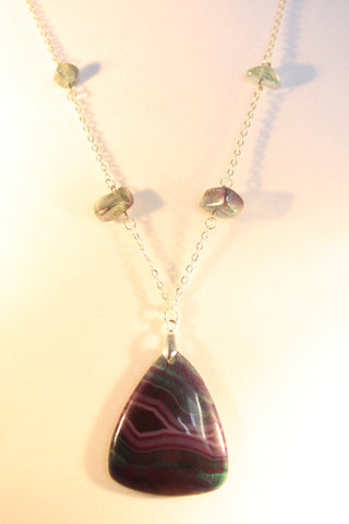 Aurora Agate Necklace - Creations by Tammy - 1