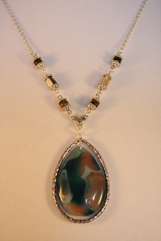 Opal Agate with Tiger Eye and Mother of Pearl - Creations by Tammy - 1
