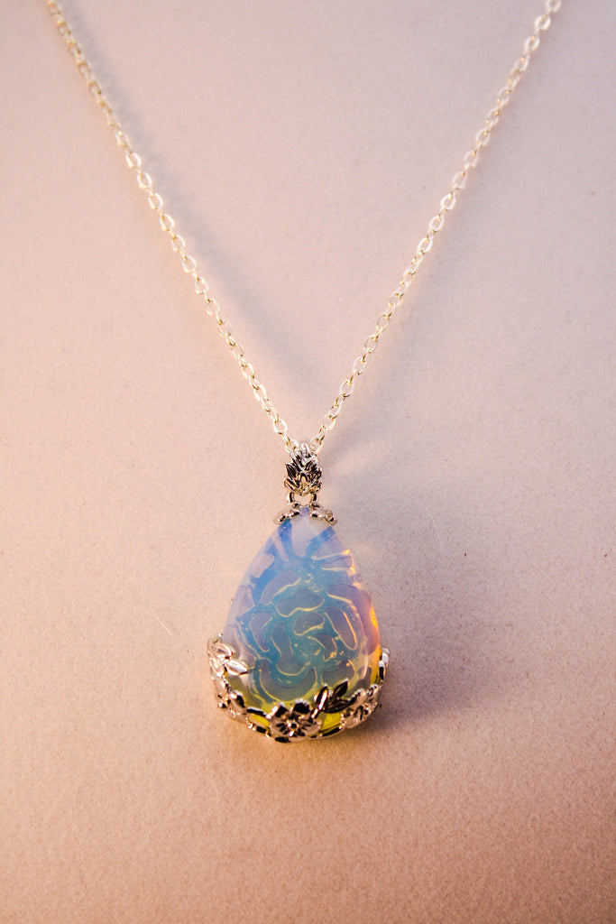 Opalite Sterling Silver Necklace - Creations by Tammy - 1