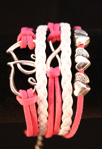 Pink in Love Bracelet - Creations by Tammy