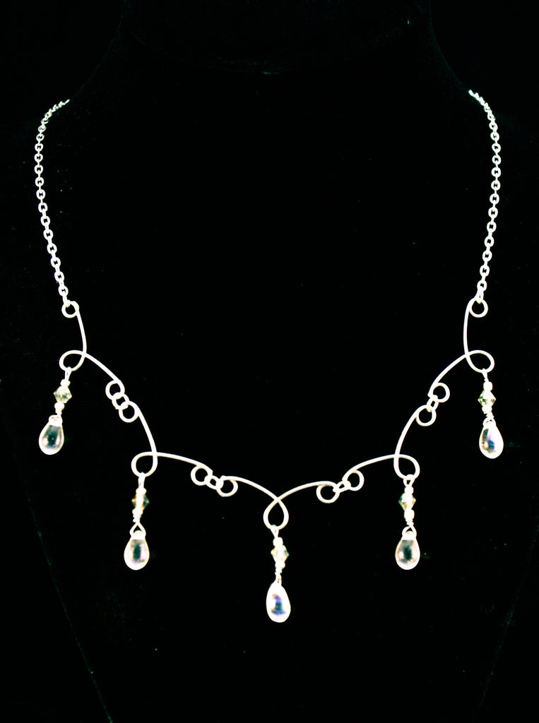 Hand Formed Tear Drop Necklace - Creations by Tammy - 1