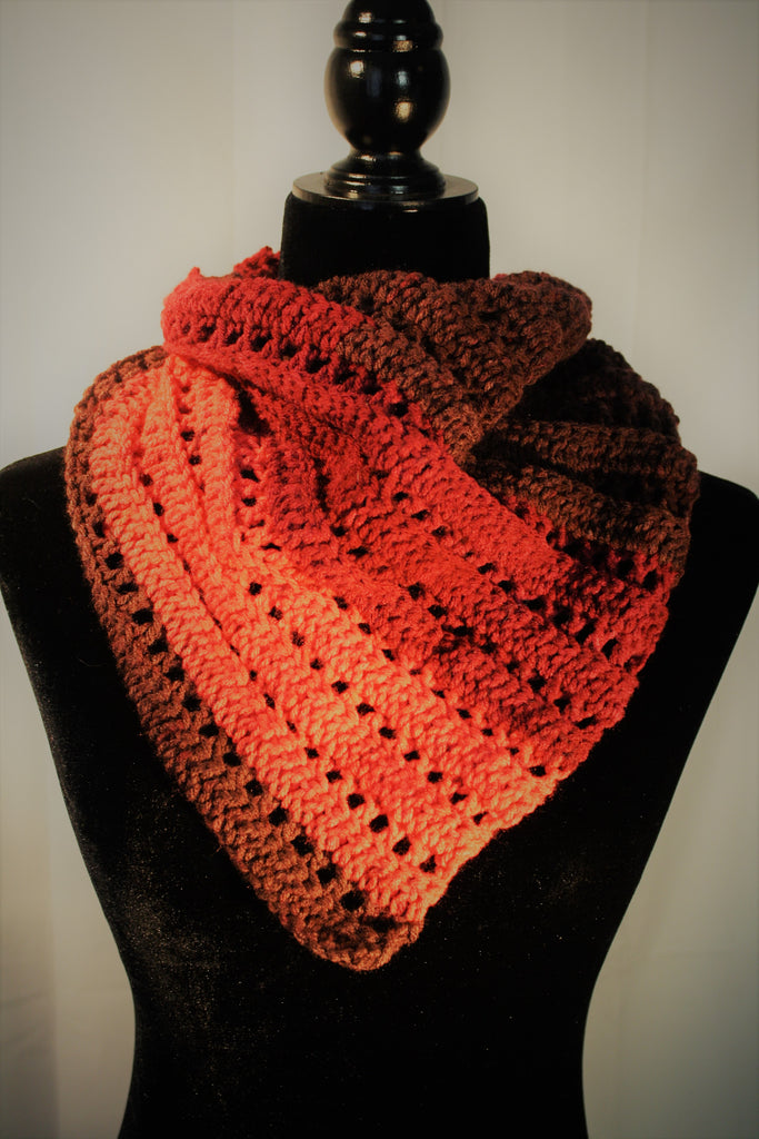 Layers of Red V Scarf/Neck Warmer