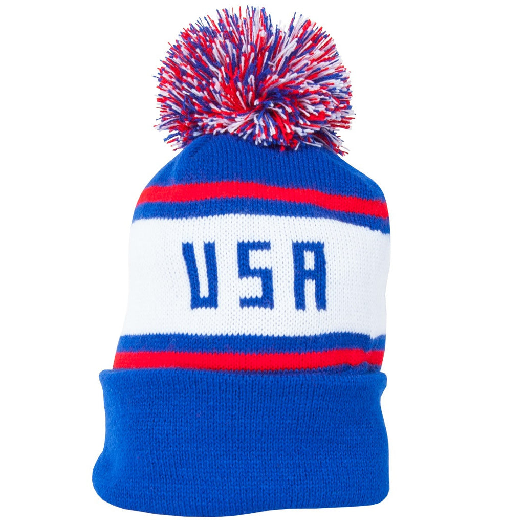 American Made Collared Greens USA Beanie Red White Blue Patriotic