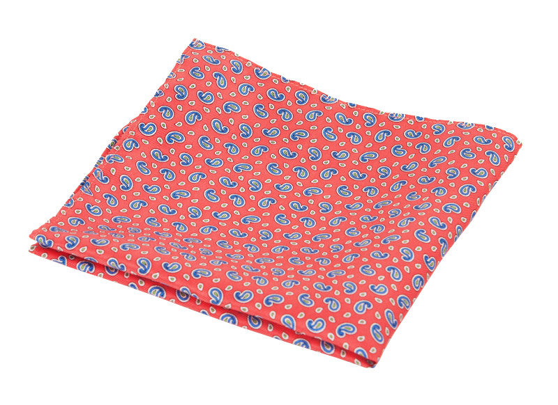 Pocket Square Alta Red American Made