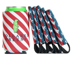 6 pack of American Flag Koozies