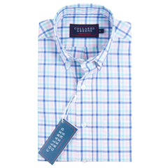 The Wilton Button Down Shirt Navy/Pink/Teal/White
