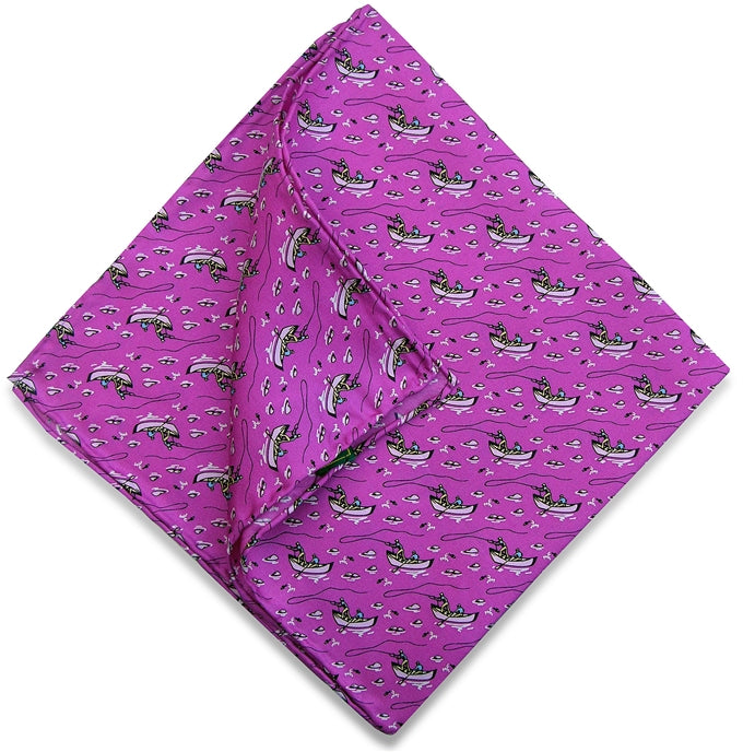 American Made Collared Greens Pocket Squares Purple Made in the USA