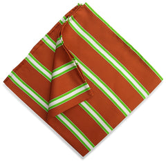 American Made Collared Greens Pocket Squares Brown Made in the USA